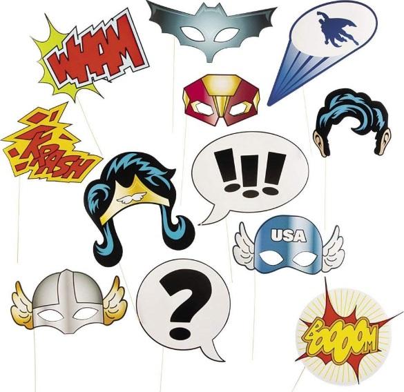 Super Hero Stick Costume Props